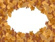 Autumn background with dried leaves