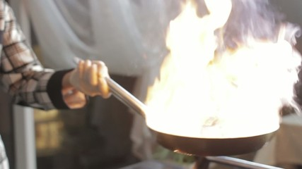 Setting A Frying Pan On Fire