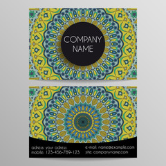 business card from patterns