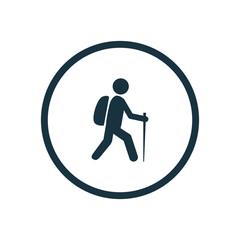 hiking icon circle shape