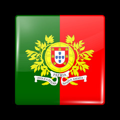 Flag of Portugal. Glossy Icons