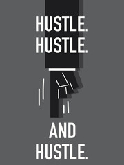 Words HUSTLE