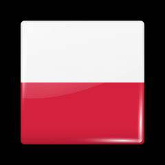 Flag of Poland. Glossy Icons
