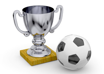 Soccer Trophy - 3D
