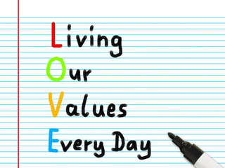 living our values every day