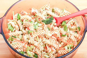 Broccoli in Pasta Salad