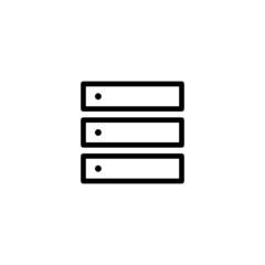 Computer Server - Trendy Thin Line Icon