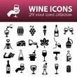 wine icons - 81484565