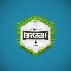Festival spring break realistic badge