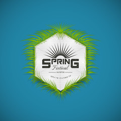 Spring Festival realistic badge