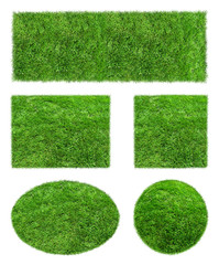 Backgrounds of green Grass Isolated