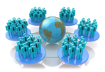 Network of social groups
