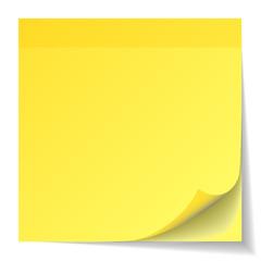 Yellow Stick Note Pad