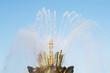 "Leinwanddruck Bild - fountain ""Stone flower"" with rainbow,ENEA, Moscow, Russia."