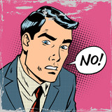 man says no pop art comics retro style Halftone
