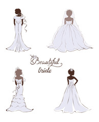 Collection vector illustration -- beautiful bride