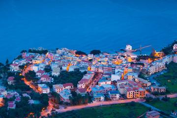 Night view of the Solanto village