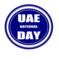 UAE NATIONAL DAY on grunge white stamp on blueblack