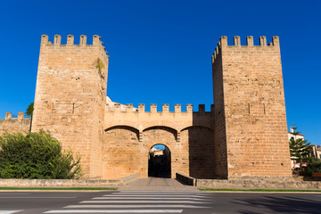 Alcudia Porta de Mallorca in Old town at Majorca