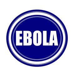 EBOLA white stamp text on blueblack