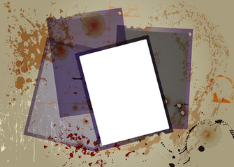 sheet film negatives, free copy space, grungy vector