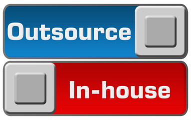 Outsource In-House Blue Red