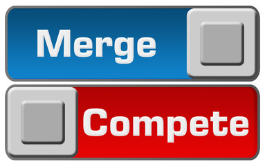 Merge Compete Blue Red