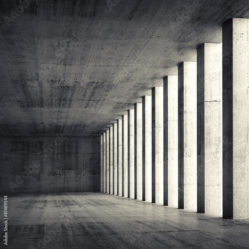 3d empty interior and concrete walls and columns - 81489544