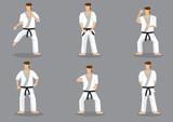 Basic Karate Moves Vector Icon Set