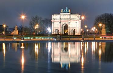 Triumphal Arch (de Triomphe du Carrousel) in front of Louvre, Pa