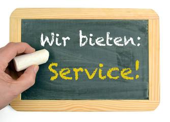Wir bieten Service