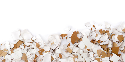 Crushed egg shells with space for your text.