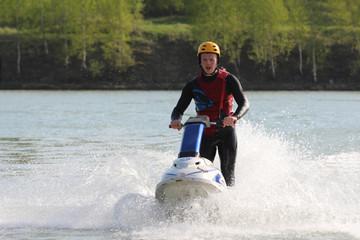 A guy on the jet ski.