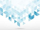 abstract background with light blue  triangle shape - 81492182