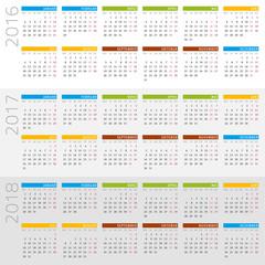 Kalender 2016-2018