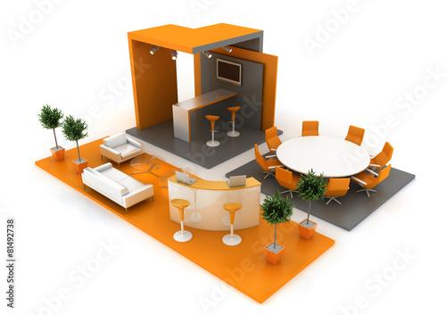 Modern exhibition stand - 81492738