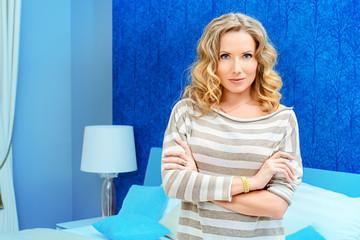 woman at bedroom