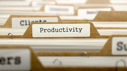 Productivity Concept with Word on Folder.