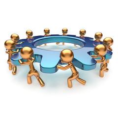 Teamwork community power business process icon concept