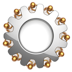 Teamwork business process partnership characters power