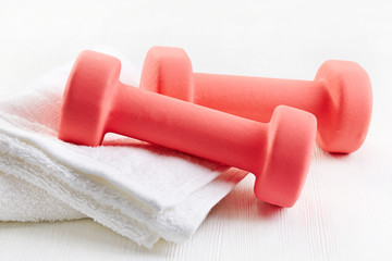 Fitness equipment dumbbells