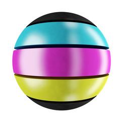 CMYK sphere