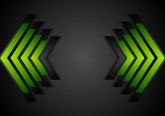 Green arrows geometry corporate background