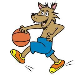 wolf, basketball