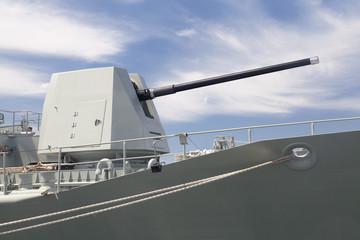 Turret on a destroyer