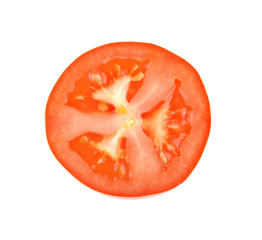 tomato sliced on white background