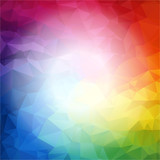 Fototapety Square Colorful rainbow polygon background or vector frame