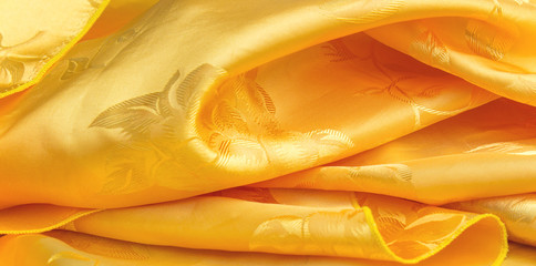 curve yellow fabric