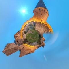 Abstraction de la cité de Carcassonne