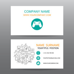 Business card vector background,gamer